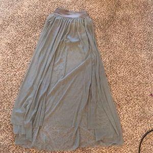 Dresses & Skirts - Contemporary dance skirt gray size sm